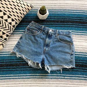Vintage High Waisted Levi's Cutoff Jean Shorts